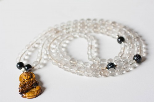 Quartz Mala with Buddha Pendant