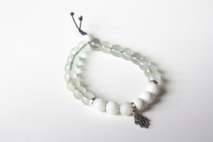 Fluorite Bracelet with Hamsa