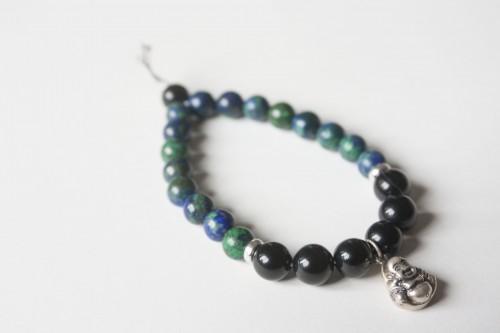 Azurite Bracelet with Buddha