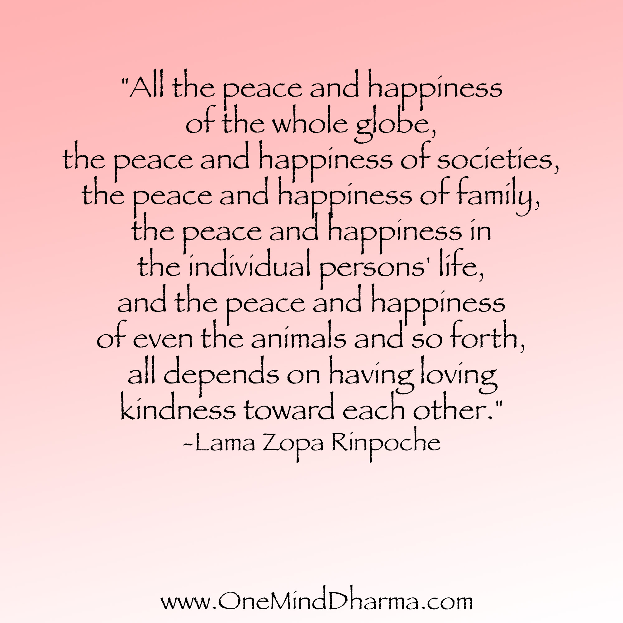 Quotes About Peace And Happiness Compassion Quotes  One Mind Dharma
