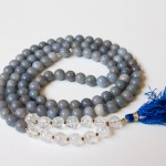 Blue Aventurine and Quartz Mala