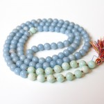 Amazonite and Angelite Mala