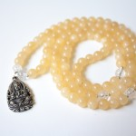 Calcite Mala with Buddha