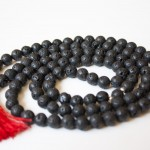 Lava Rock Mala with Tassel