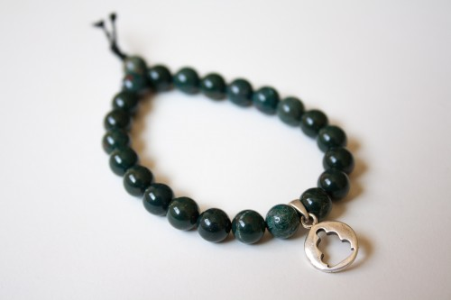 Bloodstone Bracelet with Buddha Charm
