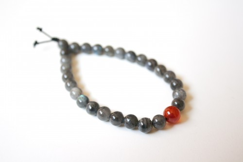 Labradorite and Carnelian Bracelet