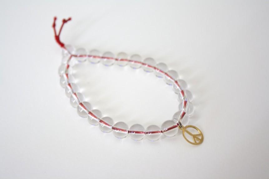 Quartz Peace Bracelet