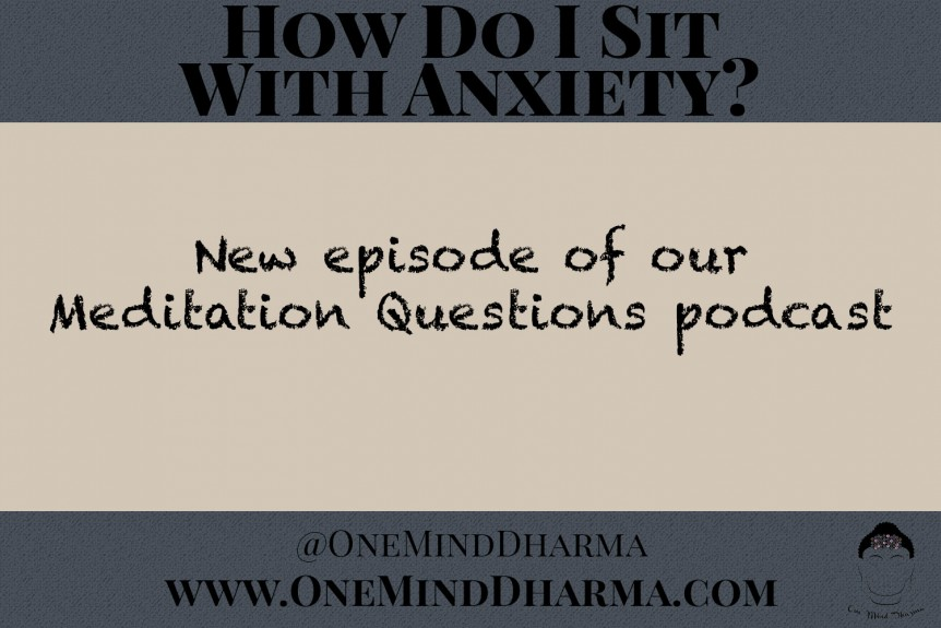 how do i sit with anxiety