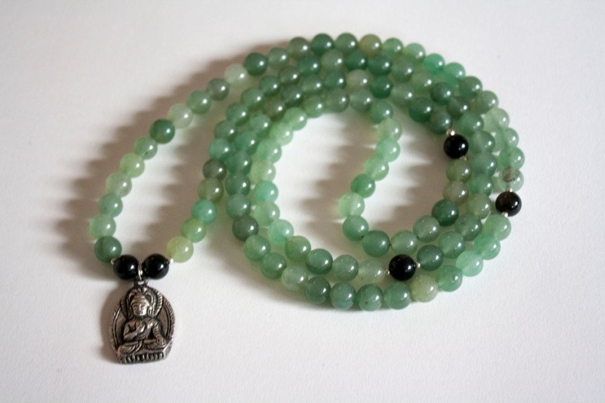 Aventurine Mala with Buddha