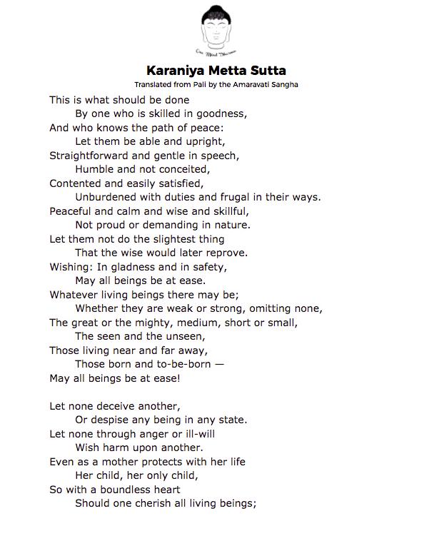 Karaniya Metta Sutta