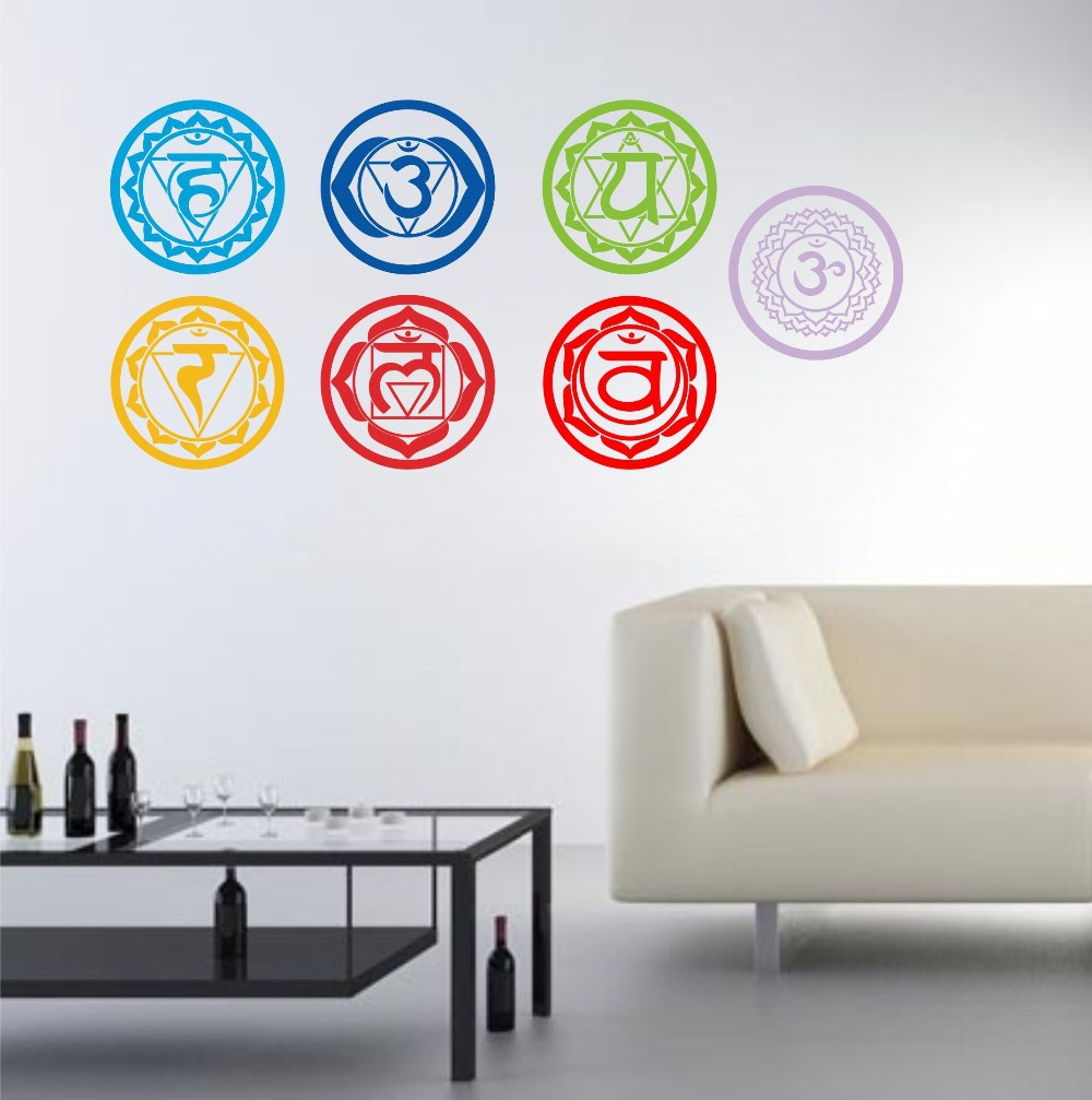 19X19CM Chakras Wallpaper Stickers ... Part 68