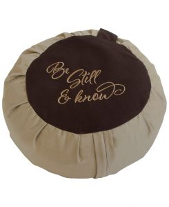 be still meditation cushion